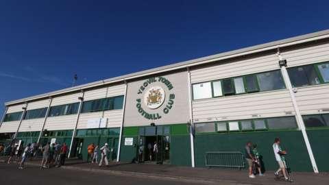 Huish Park, home ground of Yeovil Town FC