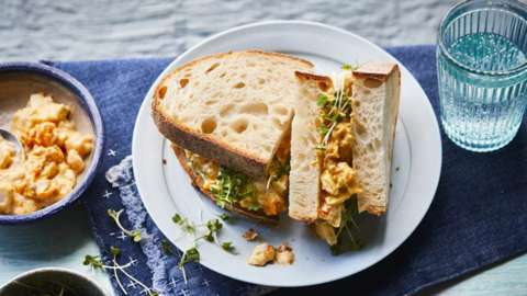 Curried egg mayo sandwich