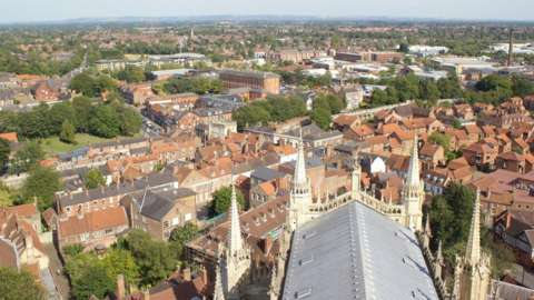 York view from Minster