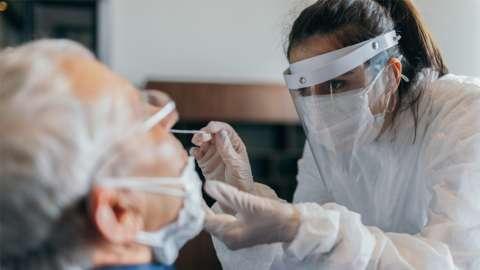 Testing using a PCR test