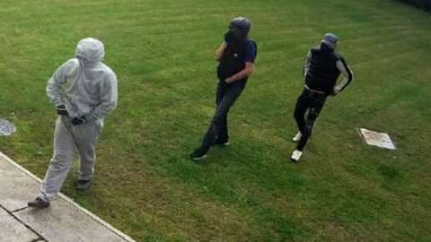 This image was released by South Wales Police after the offence