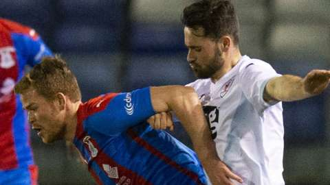 Inverness Caledonian Thistle against Raith Rovers