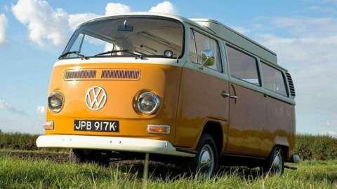 A Volkswagen Camper Van.