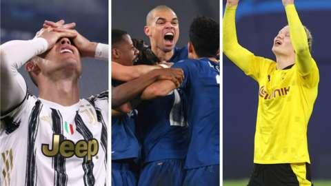 Cristiano Ronaldo, Pepe and Erling Braut Haaland