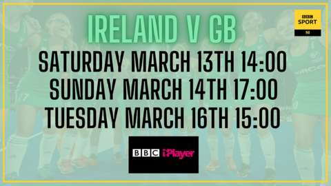 Ireland will face Olympic champions GB in Belfast series