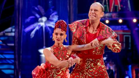 Robert Webb dancing with his partner Dianne Buswell