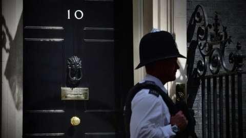Policeman outside No 10
