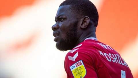 Deji Oshilaja in action for Charlton