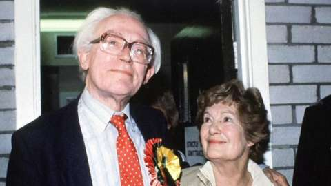 Michael Foot and wife Jill in 1983
