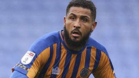 Leon Clarke in action for Shrewsbury Town