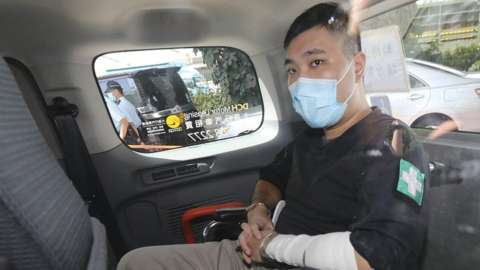 Tong Ying-kit 23-year-old man appears at West Kowloon Court on 06 July, 2020.
