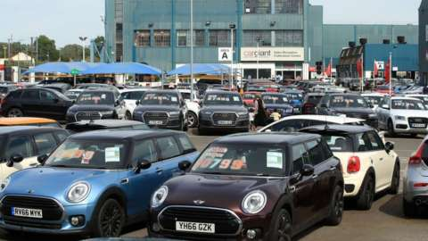 used cars on forecourt 2020