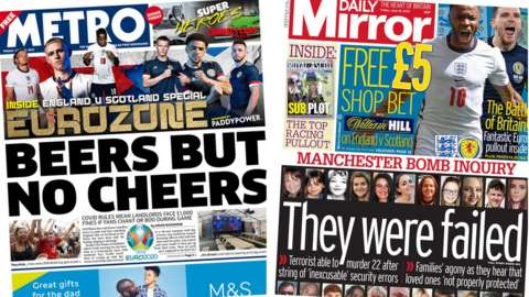 Metro and Daily Mirror