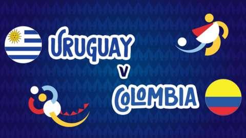 Uruguay v Colombia graphics