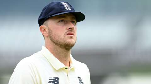England bowler Ollie Robinson