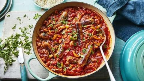 Vegan spicy sausage casserole