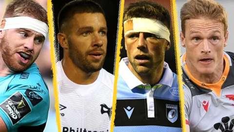 Aaron Wainwright, Rhys Webb, Rhys Priestland and Johnny McNicholl were in pre-season action for their regions