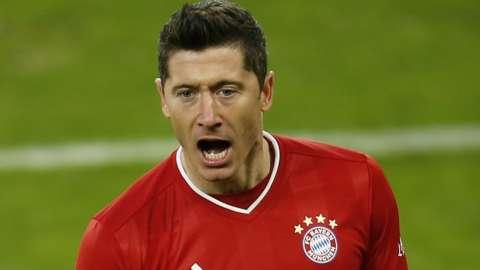 Bayern Munich striker Robert Lewandowski