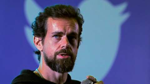 Image shows Twitter CEO Jack Dorsey