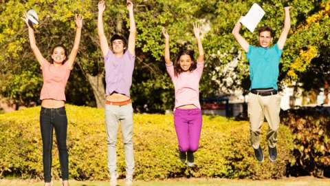 Four teens jump with results