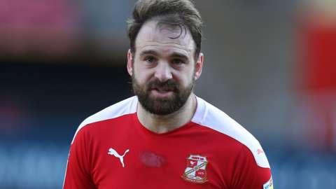 Brett Pitman in action for Swindon Town