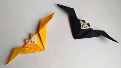 A couple of origami bats