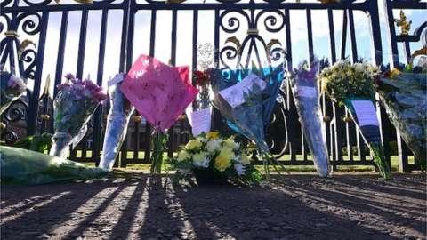 Floral tributes at Hillsborough Castle