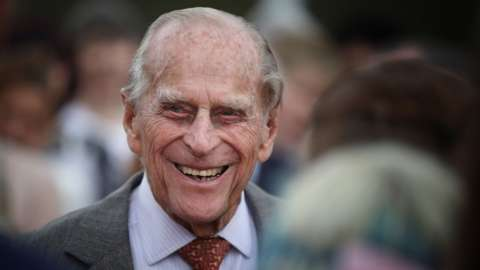 Prince Philip at the Palace of Holyroodhouse in 2017