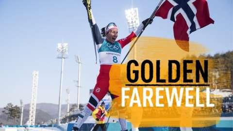 Norway's Marit Bjorgen golden farewell
