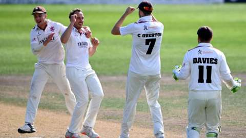 Josh Davey, who took the final Worcestershire wicket, and Craig Overton have claimed 52 scalps between then in five Bob Wiliis Trophy matches