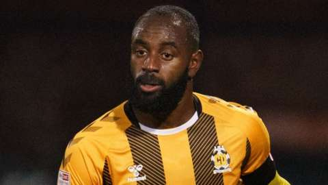 Hiram Boateng, who began his career with Crystal Palace, had two seasons with Exeter City before signing for MK Dons in 2019