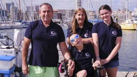 Natasha Lambert and her family in Gran Canaria