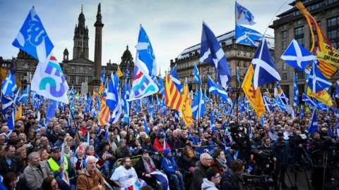 Yes rally in Glasgow