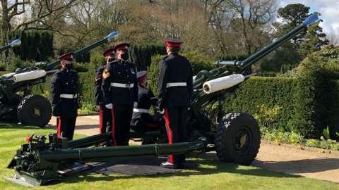 Gun salute at Hillsborough Castle