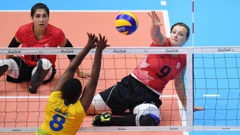 Canada v Rwanda women's sitting volleyball at Rio 2016