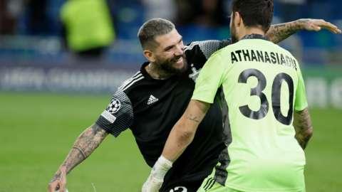 Sheriff Tiraspol player celebrate against Real Madrid