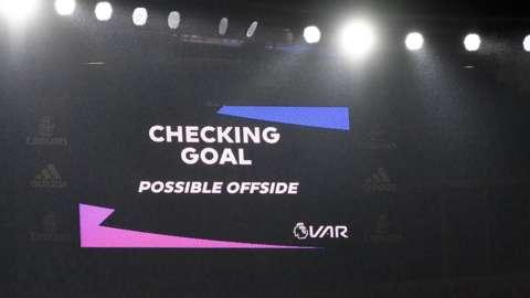 VAR check on big screen