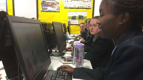 Year 10 pupils test the new system