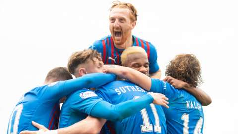 Inverness celebrate scoring