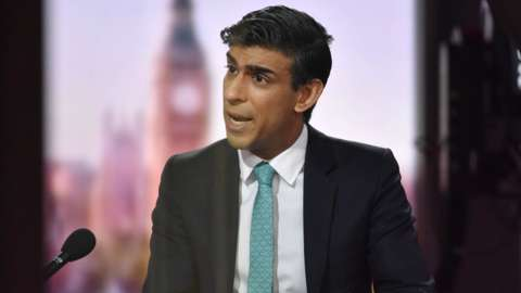 Rishi Sunak appears on the Andrew Marr show