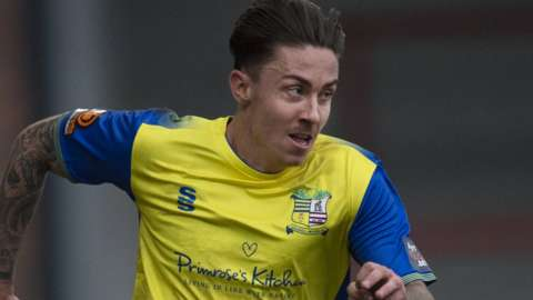 Cameron Coxe in action for Solihull Moors