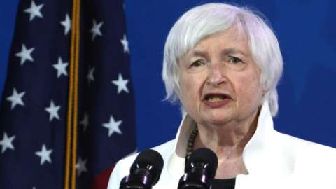 US Secretary of the Treasury Janet Yellen