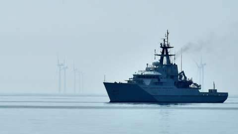 HMS Severn, an offshore patrol vessel, is the type of vessel ready for deployment in January 2021