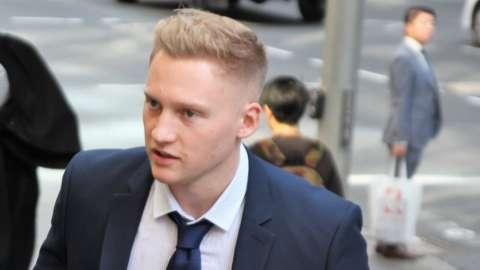 Sam Oliver outside court in Sydney