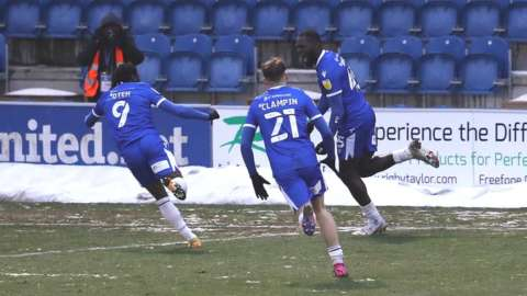 Frank Nouble's 51st career goal was his first since returning to Colchester on deadline day on loan from Plymouth