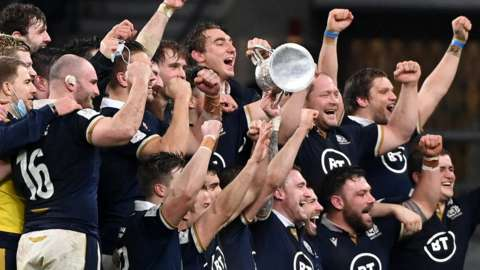 Scotland regained the Calcutta Cup with the win at Twickenham