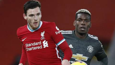 Andy Robertson and Paul Pogba