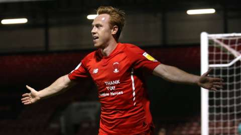 Danny Johnson celebrates
