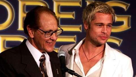Philip Berk with Brad Pitt