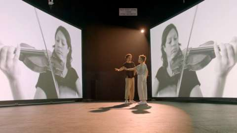 A still image from the Beethoveniana video